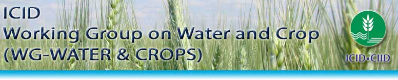 WG on Water and Crops